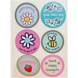 Set of 6 positivity stickers